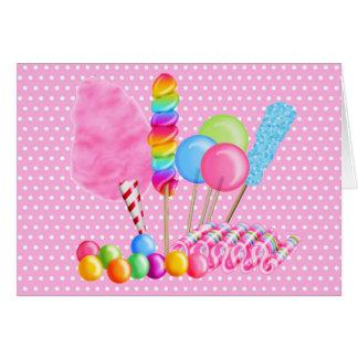 Cartões de nota do circo dos doces