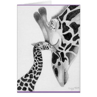 Cartões de nota do girafa