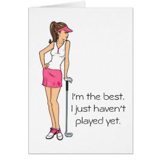 Cartões de nota do golfe das senhoras, cartões de