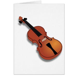 Cartões de nota do instrumento do violino