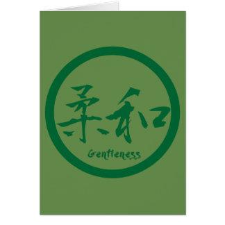 Cartões de nota do Kanji do Gentleness   Kamon