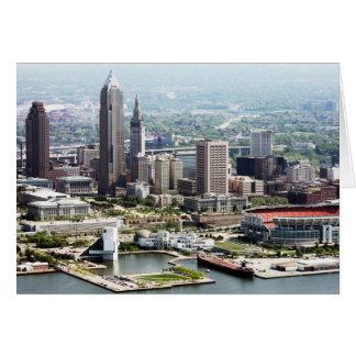 Cartões de nota dobrados 5x7 de Cleveland