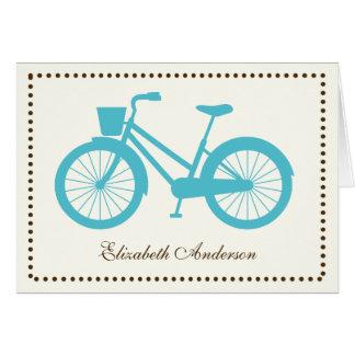 Cartões de nota dobrados bicicleta do Aqua