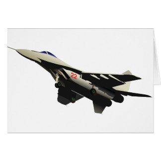 Cartões de nota dos aviões de combate