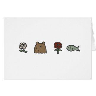 Cartões de nota dos Rosa-Urso-Rosa-Peixes
