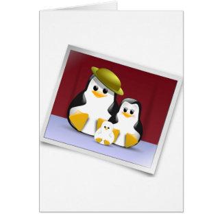 Cartões de nota felizes dos pinguins