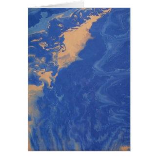 Cartões de nota fluidos pequenos da arte abstracta