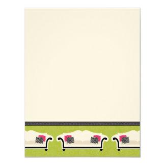 Cartões de nota lisos da decoração chique (GGs)
