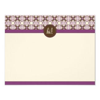 Cartões de nota lisos decorativos na moda (GGs)