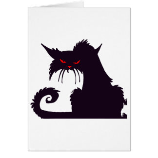 Cartões de nota mal-humorados do gato preto