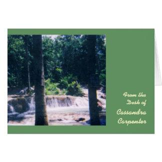 Cartões de nota personalizados cachoeira - grandes