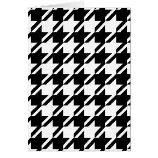 Cartões de nota preto e branco de Houndstooth