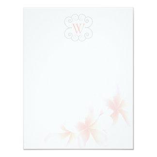 Cartões de nota tropicais florais Monogrammed do Convite 10.79 X 13.97cm
