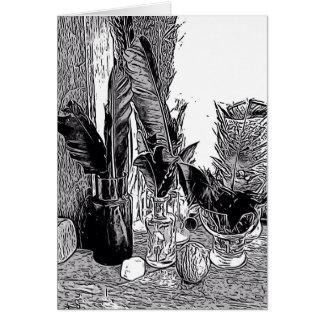 Cartões de nota vazios, design preto e branco