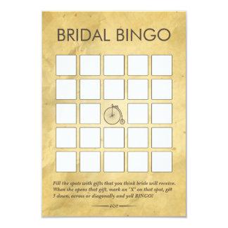 Cartões de papel velhos do Bingo do chá de panela Convite 8.89 X 12.7cm