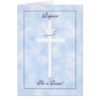 Cartões de páscoa religiosos -- Cruz e pomba