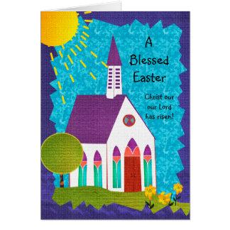 Cartões de páscoa religiosos: Uma páscoa abençoada