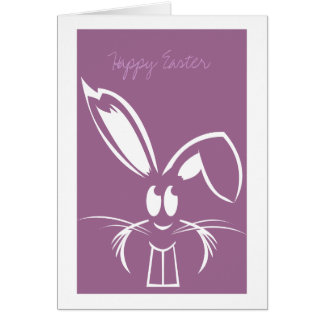 Cartões de páscoa roxos do coelhinho da Páscoa