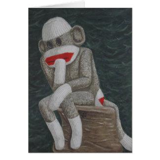 Cartões de pensamento do macaco de Thock