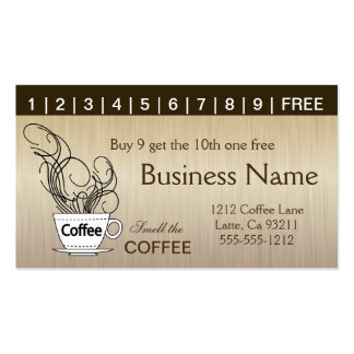 Cartões de perfurador do café ambos os lados cartão de visita