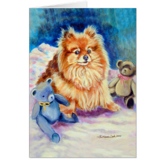 Cartões de Pomeranian