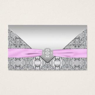 Cartões de prata e cor-de-rosa do assento