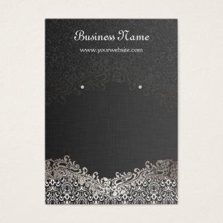 Cartões de prata elegantes da exposição do brinco