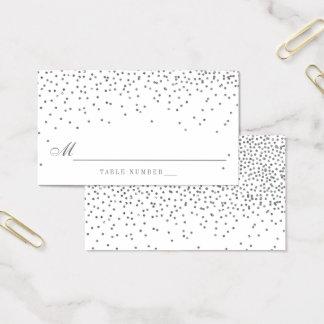 Cartões de prata Glam da escolta do casamento dos