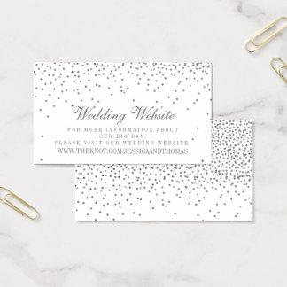 Cartões de prata Glam do Web site do casamento dos