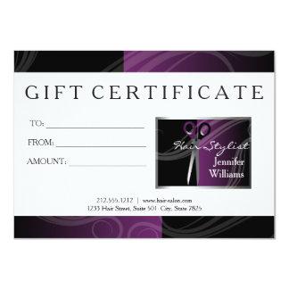 Cartões de presente do cabeleireiro convite 11.30 x 15.87cm