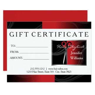cartões de presente vermelhos do cabeleireiro convite 11.30 x 15.87cm