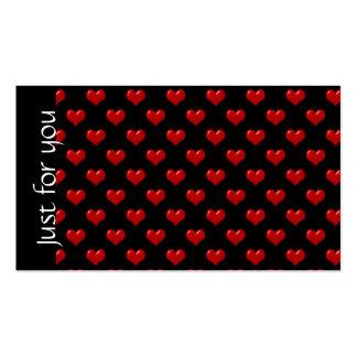 Cartões de presente vermelhos relativos à promoção cartão de visita