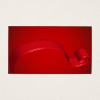 Cartões de presente vermelhos simples da fita