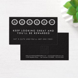 Cartões de programa da lealdade do salão de beleza