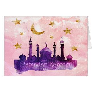Cartões de Ramadan Kareem
