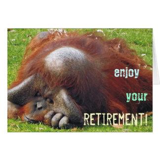 Cartões de relaxamento da foto da aposentadoria do