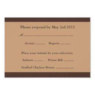 Cartões de resposta do casamento de praia - praia convite 8.89 x 12.7cm