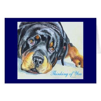 Cartões de Rottweiler/Notecards
