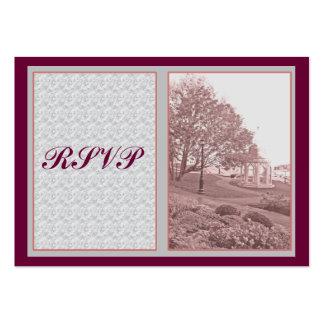Cartões de RSVP Modelo Cartão De Visita