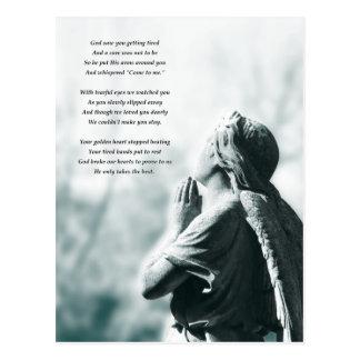cartões de simpatia da oração do anjo