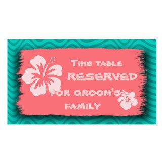 Cartões de tamanho temáticos tropicais do negócio cartão de visita