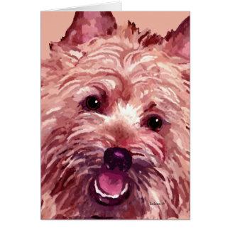 "Cartões de Terrier de monte de pedras ""Chubba"""