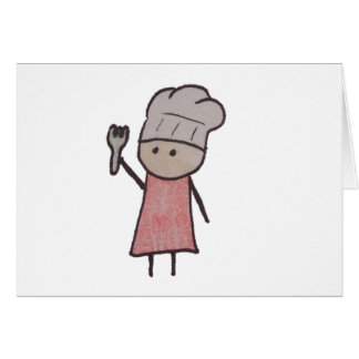 Cartões de uma nota pequenos do cozinheiro chefe