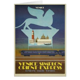 Cartões de Veneza Simplon (expresso de oriente)