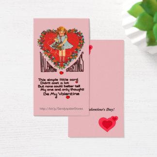 Cartões de Vert da grinalda & da menina do coração