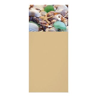 Cartões de vidro dos Seashells, da estrela do mar  10.16 X 22.86cm Panfleto