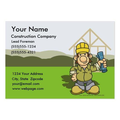 Cartões de visitas 1 do contramestre da construção