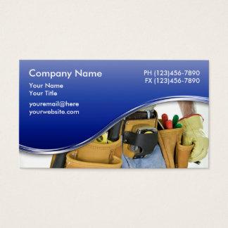 Cartões de visitas 2 do trabalhador manual