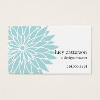 Cartões de visitas à moda chiques azuis de flower