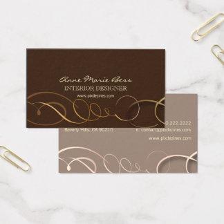 Cartões de visitas à moda do chocolate